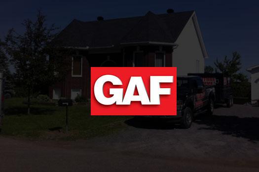 Couvreur certifié GAF pour toiture en bardeau